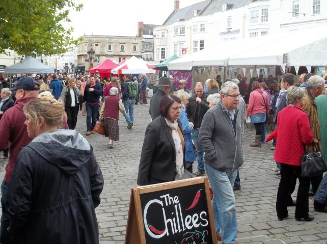 Places to go in Somerset - Wells Market