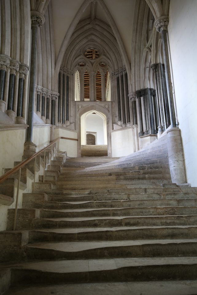 Places to go in Somerset - The steps to the Chapter House